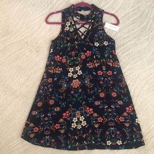 NEW Miami Dress XS Floral Blue Shift